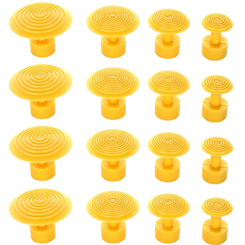 PDR Dent Tabs Paintless Dent Repair Tools 16pcs High Quality Durable Yellow Glue Tabs Suction Cup PDR Toolkit Herramentas