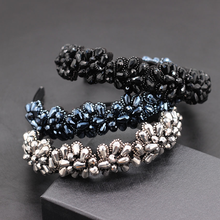 Headband Flower Geometric Street New The of 862 Hand-Stitched-Rice-Beads Beat Korean-Version