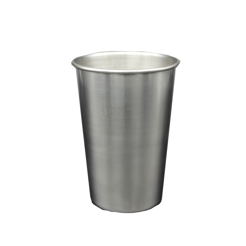 Stainless Steel Wine Glass 500ml Metal Beer Spirits Cup Creative Simple Verre Biere Rinser Mug Glasses Tumblers Copas Tiki Vino