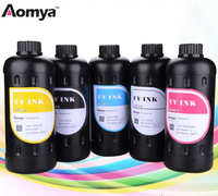 5 Bottles 500ml Universal LED UV Ink Compatible For Epson 1390 1400 1410 1430 1500W R280 R290 R330 L800 L1800 UV LED Printer