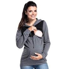 Nursing Maternity Hoodies For Pregnant Women Breastfeeding Hooded Pregnancy Top Feeding Coat Jacket Maternity Sweater Clothes все цены