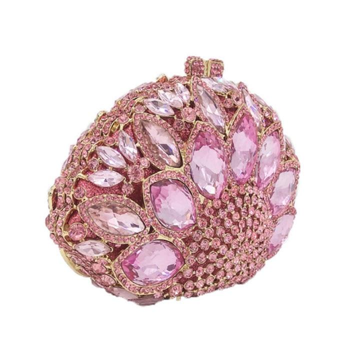 купить XIYUAN BRAND Woman pink Evening bag Women Diamond Clutch Crystal Day Wallet Wedding clutch Purse Party with Chains shoulder bag онлайн