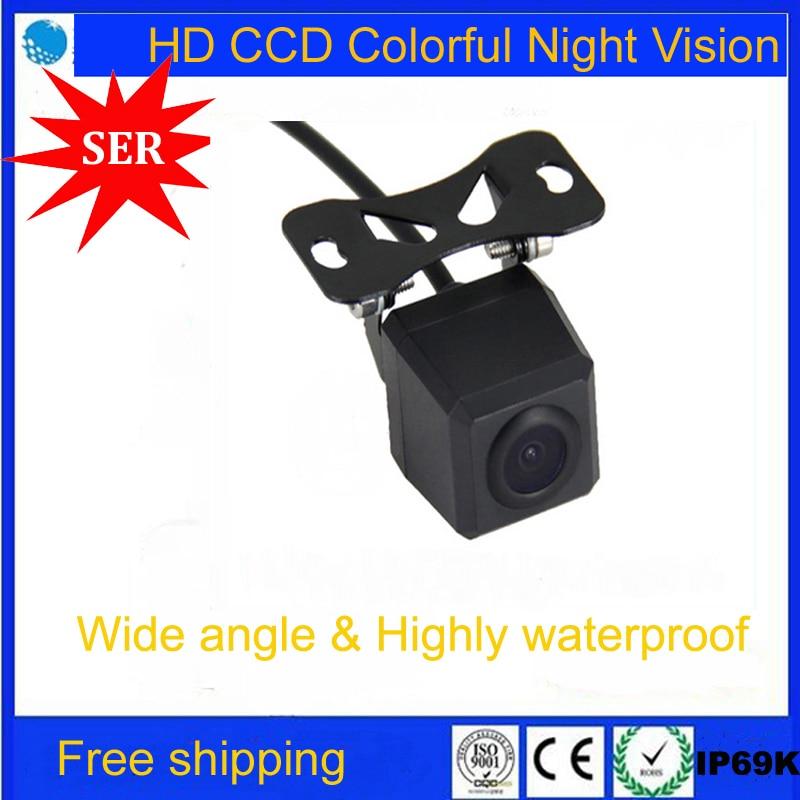 imágenes para Venta caliente HD visión nocturna del CCD cámara de visión trasera Estacionamiento de copia de seguridad para todos los vehículos de auto Coche Universal Cámara de Marcha Atrás promoción