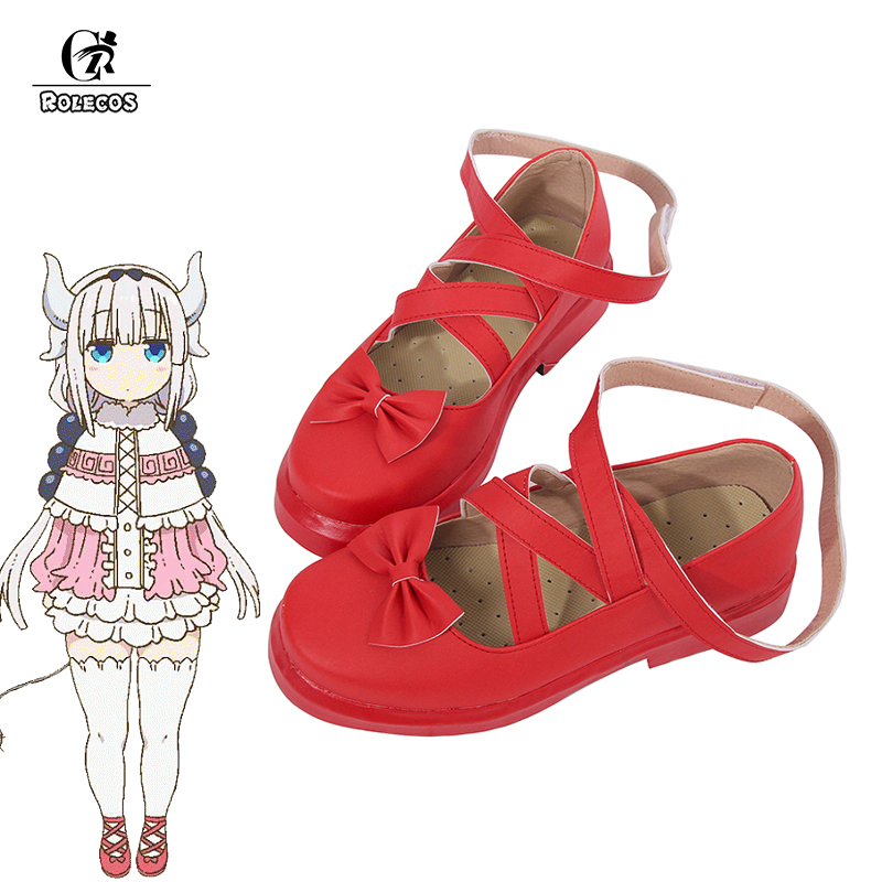 ROLECOS Kamui Kanna Lolita Shoes Kobayashi-san Chi no Maid Dragon Anime Cosplay Shoes Miss Kobayashi's Dragon Maid