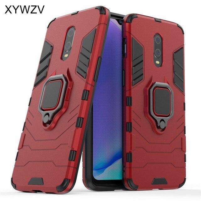 Dla Oneplus 7 Case odporna na wstrząsy pokrywa wstrząsy twardy metalowy palec serdeczny etui na telefon komórkowy z uchwytem dla Oneplus 7 6T pokrywa Oneplus 7 1 + 7 1 + 6T