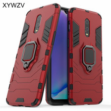 For Oneplus 7 Case Shockproof Cover Hard PC Armor Metal Finger Ring Holder Phone Case For Oneplus 7 6T Cover Oneplus 7 1+7 1+6T
