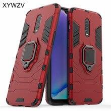 Voor Oneplus 7 Case Shockproof Cover Hard PC Armor Metalen Vinger Ring Houder Telefoon Case Voor Oneplus 7 6T cover Oneplus 7 1 + 7 1 + 6T