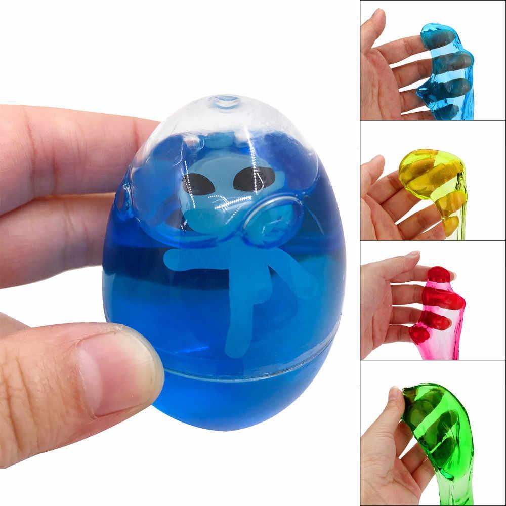 Squish Colorful Slime Fluffy Foam DIY Crafts Soft Scented Magic Plasticine Slimes Egg Alien Stress Relief Sludge Trick Toy FE02d