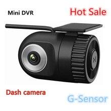 Pequeño HD 720 P En El Tablero de Coches Cámara de Vídeo Grabadora de Registro Mini DVR Cam g-sensor conectar monitor de DVd