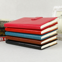 1Pcs Set A5 Business PU Leather Cover Agenda Notebook With Buckle Classic Portable Planner Notepad School