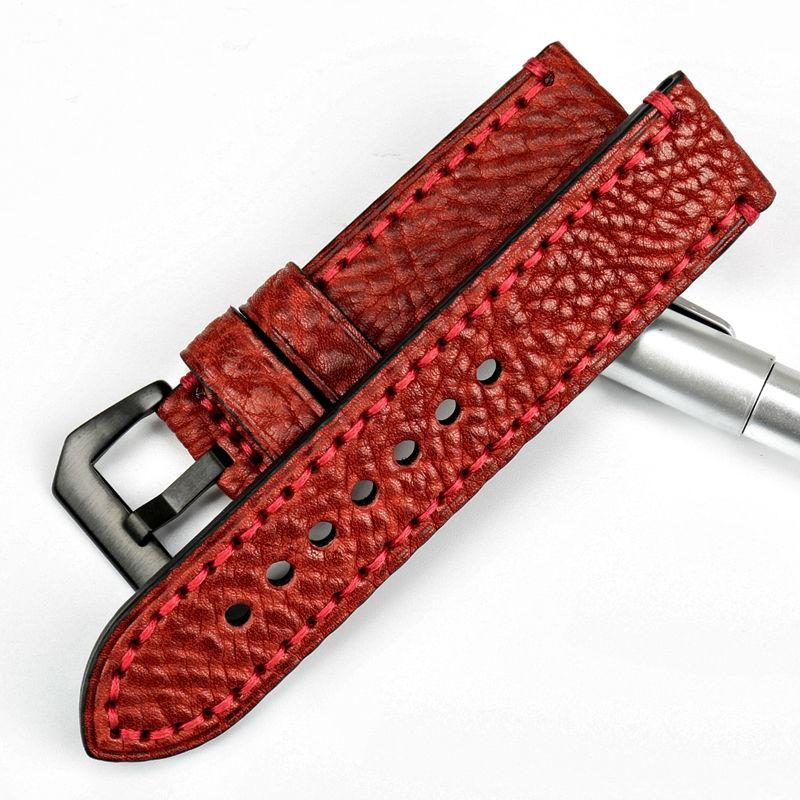 MAIKES Fashoin røde armbånd 20 22 24 26mm armbånd italiensk ko - Tilbehør til ure - Foto 2