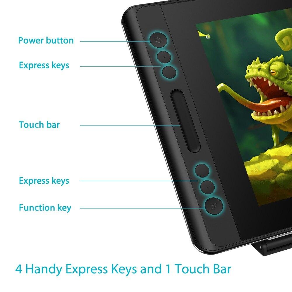 HUION KAMVAS Pro 12 GT-116 Digital Tablet batería lápiz de dibujo de la tableta Monitor con función de inclinación AG de vidrio touch Bar - 3