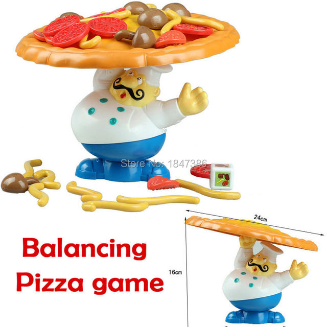 Interactive Balance Pile Up Board Game, Add Toppings on the Pizza But Don't