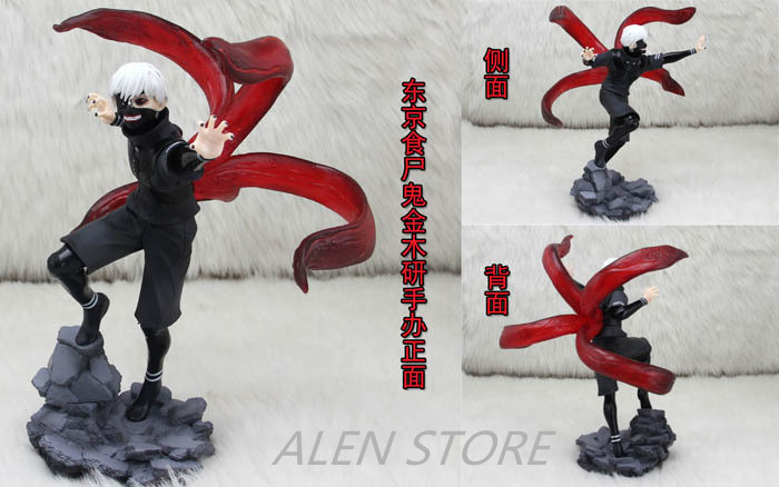 ALEN Anime Tokyo Ghoul 2 Edition 23CM Kaneki Ken 1/7 Scale Painted Figure Red & Black Ver. PVC Action Figure Collectible Toys Mo anime tokyo ghoul kaneki ken laptop black backpack double shoulder school travel bag for teenagers or animation enthusiasts