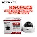Бесплатная доставка английская версия DS-2CD2155FWD-I 5MP Сетевая купольная IP камера cctv с интернетом на sd-карту, возможностью погружения на глубину ...