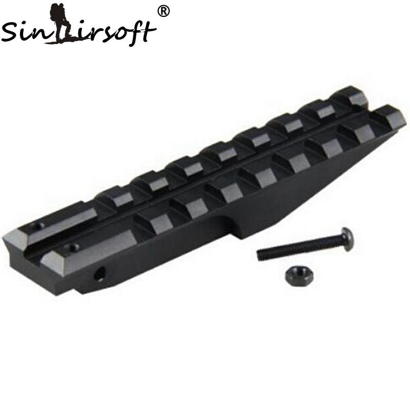 SINAIRSOFT Tactical Rear Weaver 20mm Rail Mount For Paintball Access Rack AK Series Airsoft AEG AK 47 Sight
