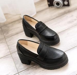 Image 5 - Uniform Schoenen Uwabaki Japanse Jk Vrouwen Meisjes Scholieren Lolita Schoenen Zwart Rood Beige Cosplay Schoenen Voor Volwassen