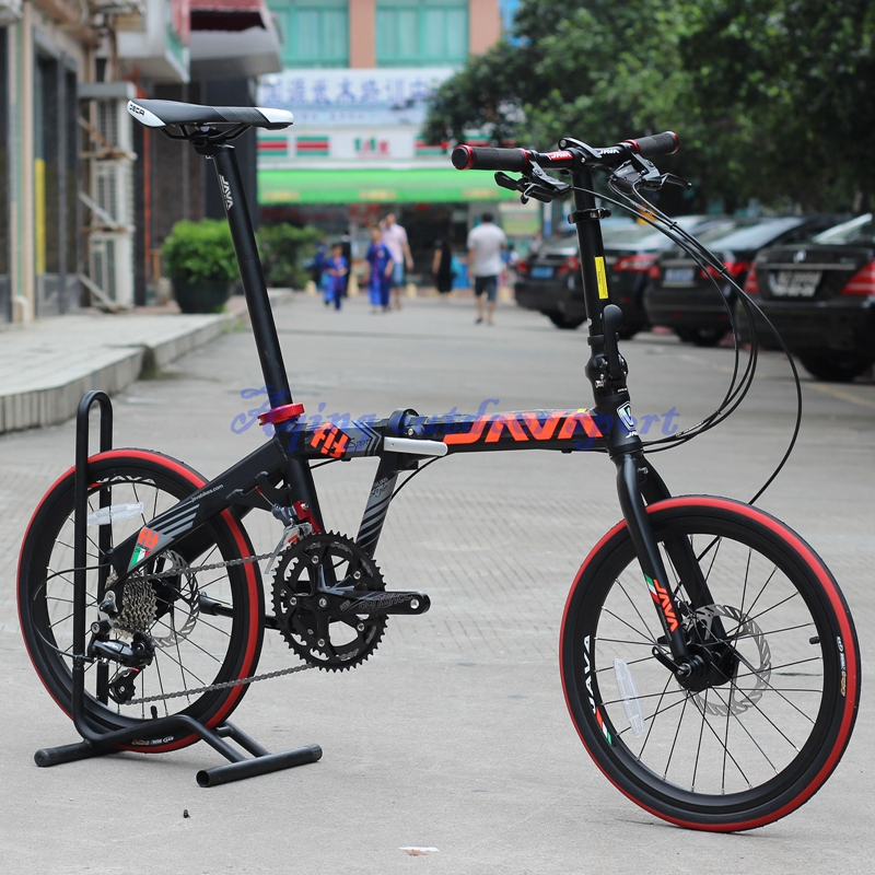 "JAVA FIT Folding Bike 20"" Wheel 18 Speed Disc Brake Foldable Uniex High Quality UrbanBicycle"