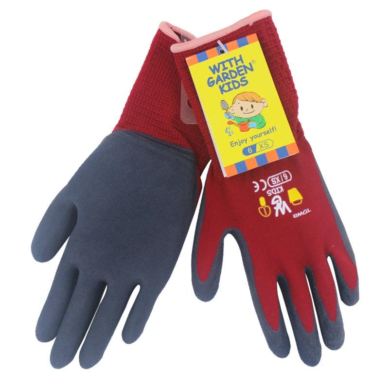TOWA Kids Children Safety Gloves Wear-resistant Anti-slip Nylon Protective Gloves Kindergarten Boys and Girls Gardening GlovesTOWA Kids Children Safety Gloves Wear-resistant Anti-slip Nylon Protective Gloves Kindergarten Boys and Girls Gardening Gloves