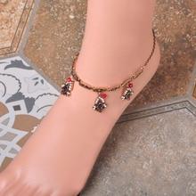 Antique Gold China Ankle Bracelet Cheville Barefoot Sandals Foot Jewelry For Women Summer Fashion Chain Bracelet Foot Bracelet
