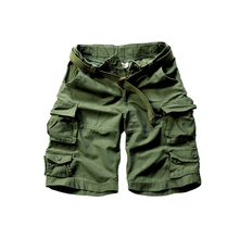 New arrivals free shipping men cargo shorts cotton camouflage shorts with belt 11 colors Size S M L XL XXL XXXL C001