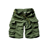 New Arrivals Free Shipping Men Cargo Shorts Cotton Camouflage Shorts With Belt 11 Colors Size S