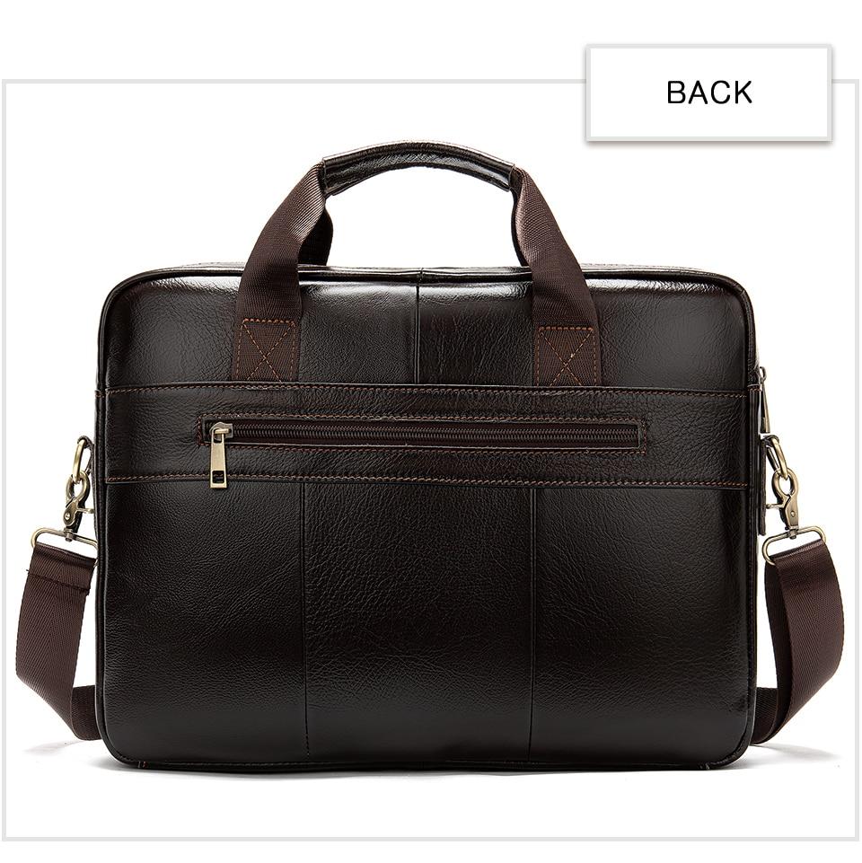 HTB1Qq16UzTpK1RjSZKPq6y3UpXay WESTAL briefcase messenger bag men's genuine leather 14'' laptop bag men's briefcases office business tote for document 8572