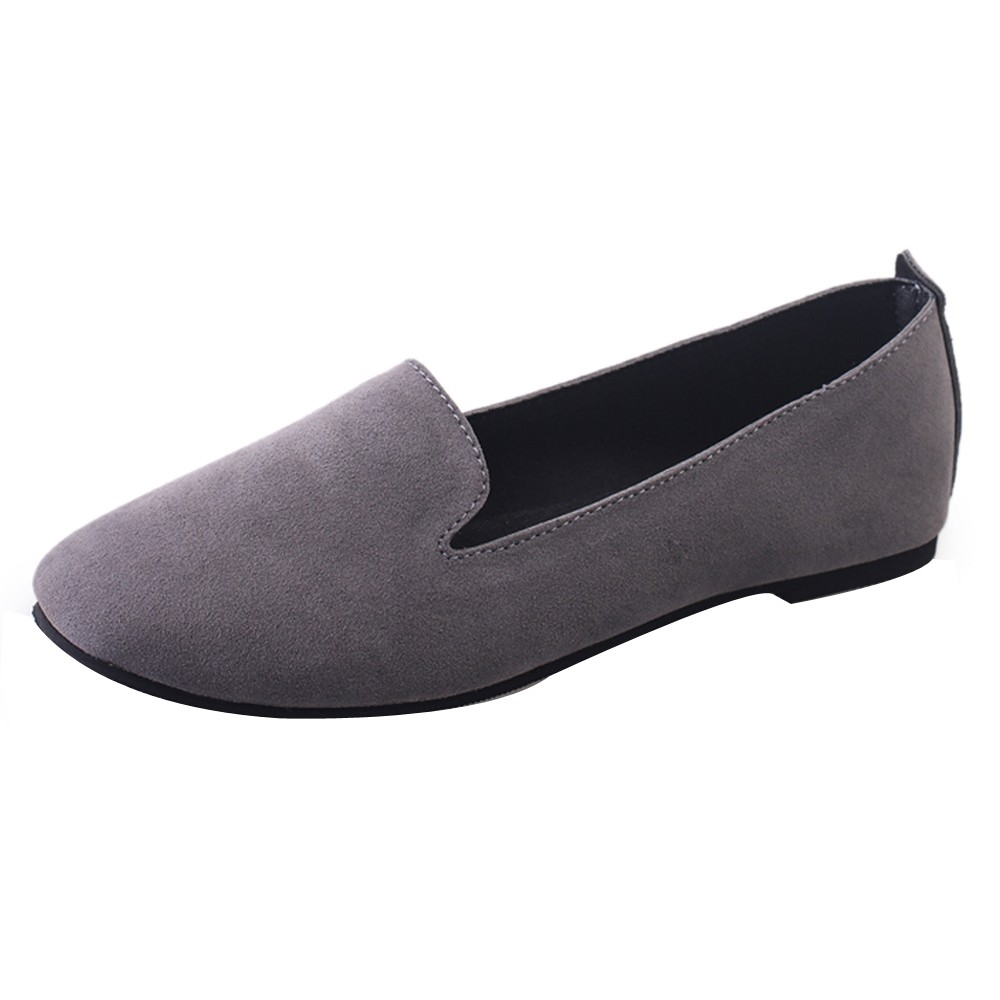 New Casual Outdoor Toe Flat High Quality Women Ladies Slip On Flat Round Toe Shallow Shoes Sandals Casual Shoes 2019