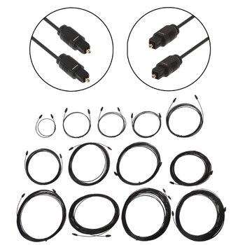Digitale Optische Audio Kabel Vergulde Kabel Adapter 0.5 M-30 M Spdif Md Dvd Voor Toslink Male Naar mannelijke Kabel Voor Dvd Cd Mini Disc