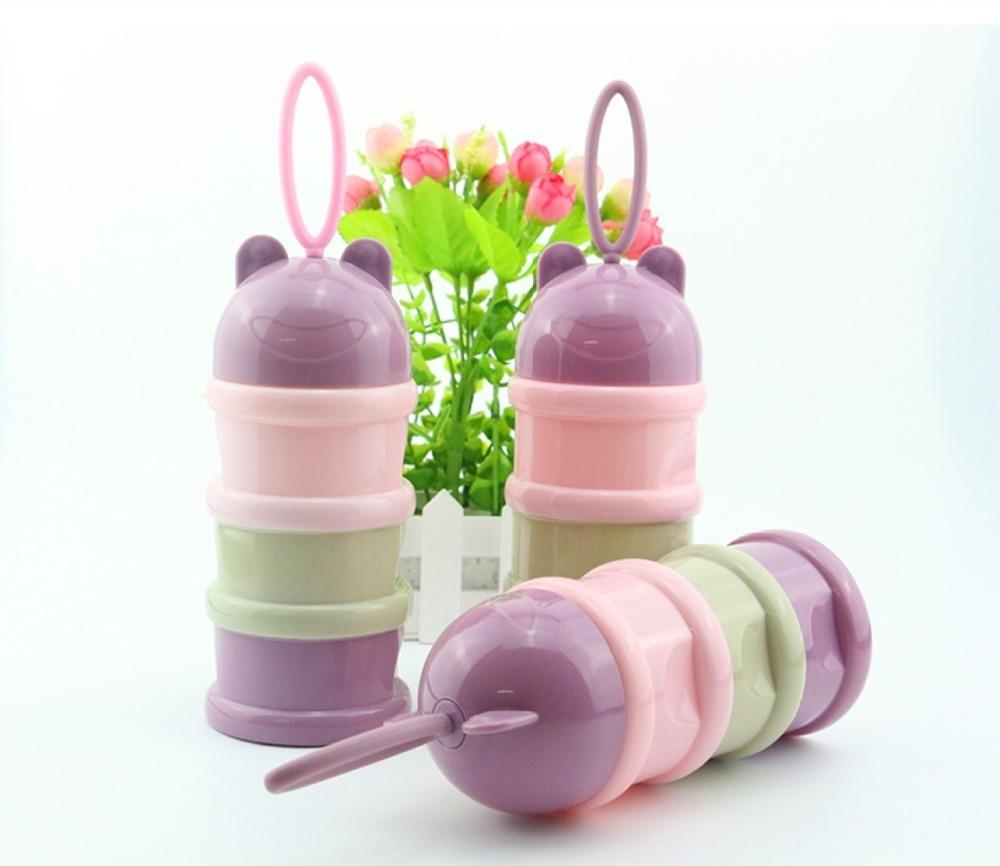 1 Pc Baby Lebensmittel Lagerung Milchpulver Infant Cartoon Stil Drei Schichten Baby Pulver Formel Milch Lagerung Flasche Fütterung Fütterung