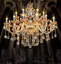 hot deal buy modern crystal chandelier dining room chandeliers light suspended light lustres de cristal lamp led suspension luminare