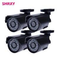 Freeshipping 4pcs CCTV Camera Analog 1200TVL IR Cut Day Night Vision Outdoor Waterproof Bullet Camera Surveillance