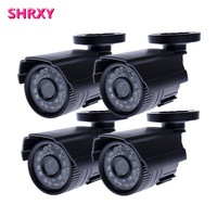 Freeshipping 4pcs CCTV Camera Analog 1200TVL IR Cut Day Night Vision Outdoor Waterproof Bullet Camera Surveillance