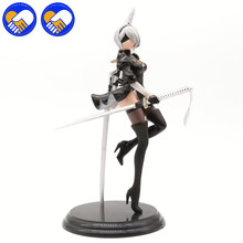 Free Shipping NieR Automata YoRHa No. 2 Type B 2B Banpresto PVC Action Figure Collection Toy Doll Kids Gifts Brinquedo Models
