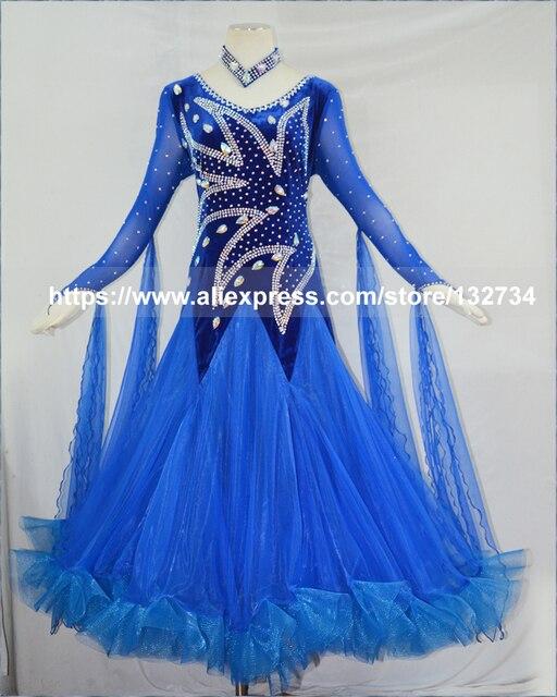 c5e3c3497 Luxury Ballroom Dance Dress 2017 Adult Lady's Flamenco Waltz Dancing Wear Women  Standard Competition Foxtrot Dance Dress