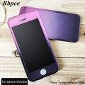 Горячие моды градиент цвета Скраб slim PC case for iphone 5 5s 6 6 s плюс 7 7 плюс 360 градусов полное покрытие для iphone 5 6 plus 7 case