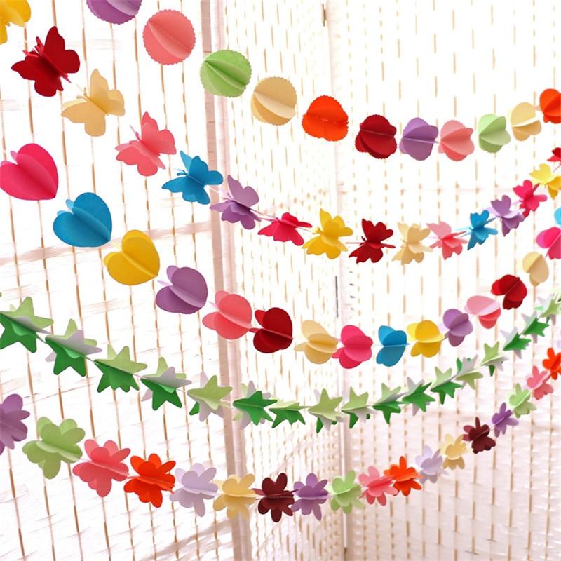 Viseče papirnate rože Božično umetno cvetje garland rojstni dan - Prazniki in zabave - Fotografija 3