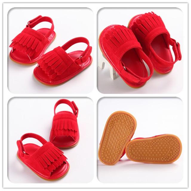 2017 meninas do bebê sandálias crianças sandálias de couro genuíno crianças sapatos de verão pu sandálias de couro gladiador calçados femininos 11-13 cm