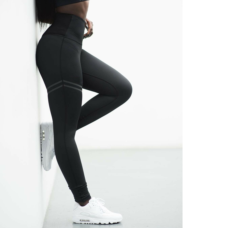 Women Sport Yoga Pants Workout Gym Fitness Leggings Stretchy High Waist Elastic Pants Trousers Sportswear femme