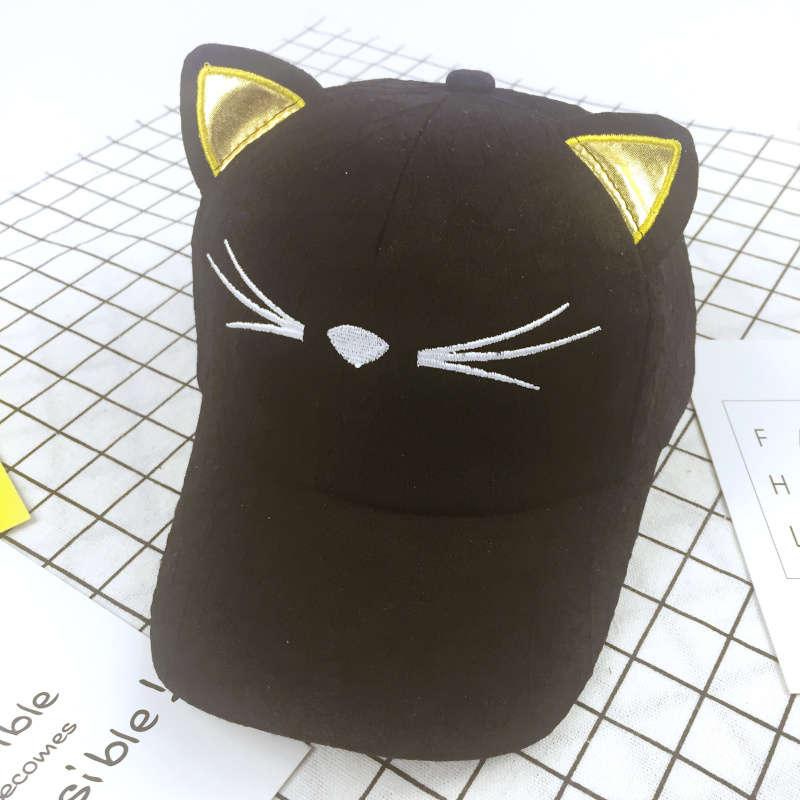 cat ear baseball cap ebay cute font ears cartoon black