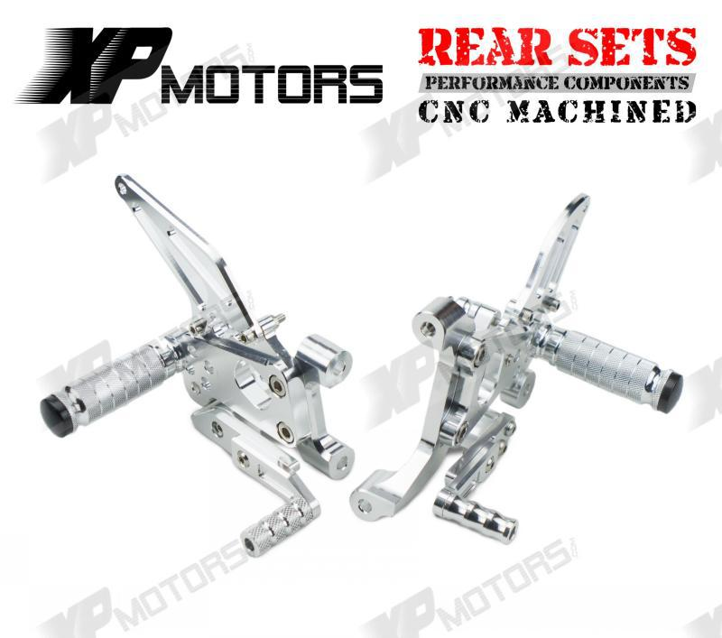 Silver CNC Racing Adjustable Foot pegs Rear Sets Fits For Ducati 899 1199 Panigale/S/R 2012 2013 2014