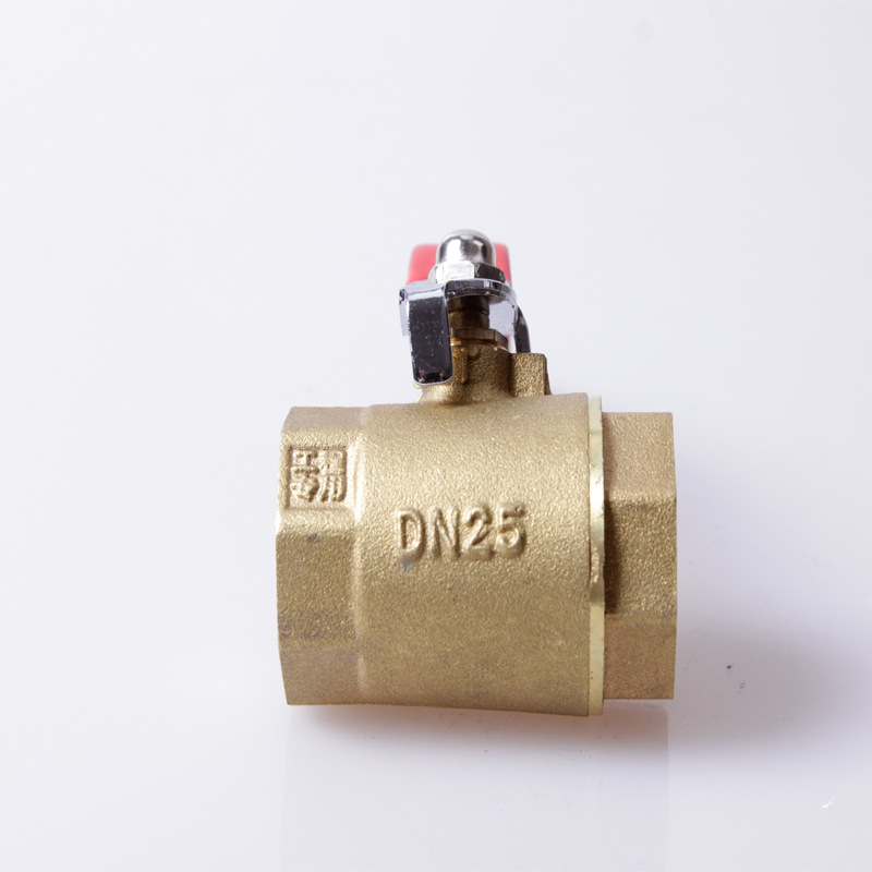 ball valve double wire ball valve 4 points -2 inch within the teeth deduction copper valve <font><b>affordable</b></font> image
