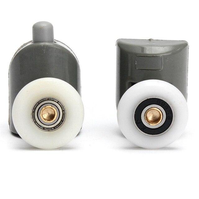 8 teilesatz edelstahl duschtr rollen lufer rder riemenscheiben 25mm x 5mm topbodenschraube - Duschtur Rollen
