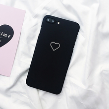 Heart Printed Matte Phone Cases for iPhone