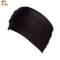 10 pcs/lot New Fashion Women Bamboo Pleated Wide Headband Head Wrap Beanie Cap Hair band Girls Hair Accessories