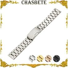 24mm Stainless Steel Watch Band for Suunto Core Watchband Men Women Metal Strap Wrist Loop Belt Bracelet Black + Spring Bar