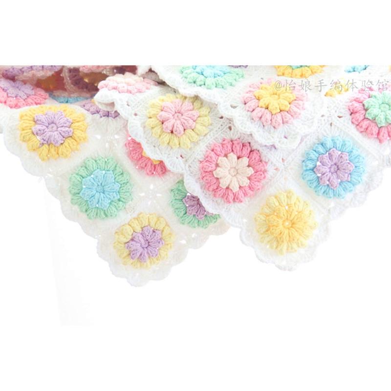 Mantas hechas a mano Vintage Crochet Granny Square/rectángulo hilo ...