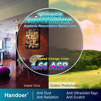 Handoer 1.61 Photochromic Single Vision Optical Prescription Lenses Fast Color Change Light-Sensitive Vision Correction Lens