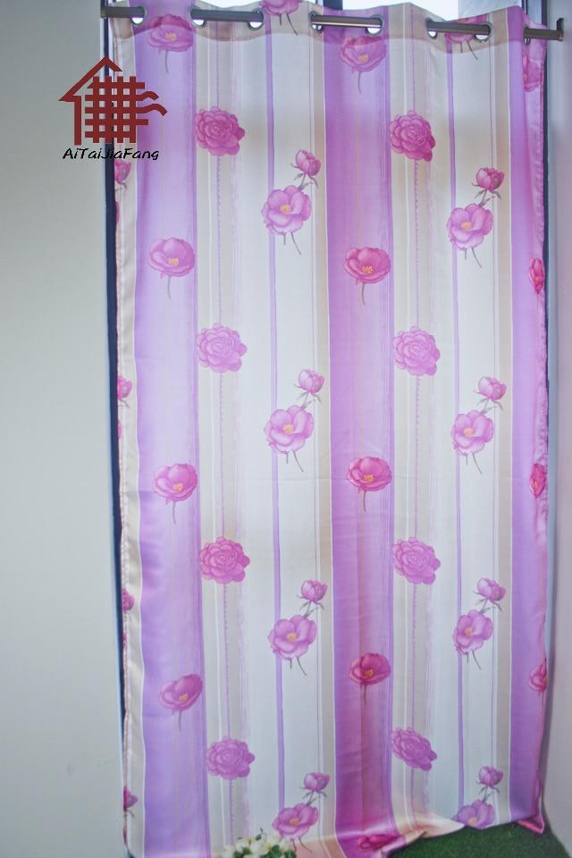 tendencia aitai nuevos grandes flores de color rosa impresa cortinas para dormitorios en negro