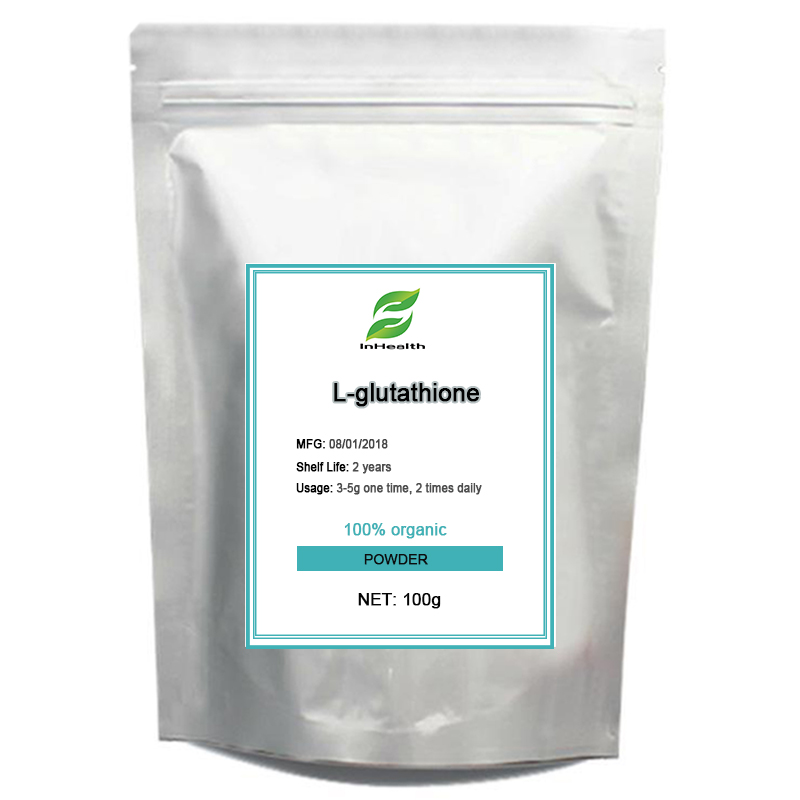 High quality L-Glutathione with 100g package free shipping 100g high quality l glutathione injection grade glutathione 99% free shipping anti aging anti tumor